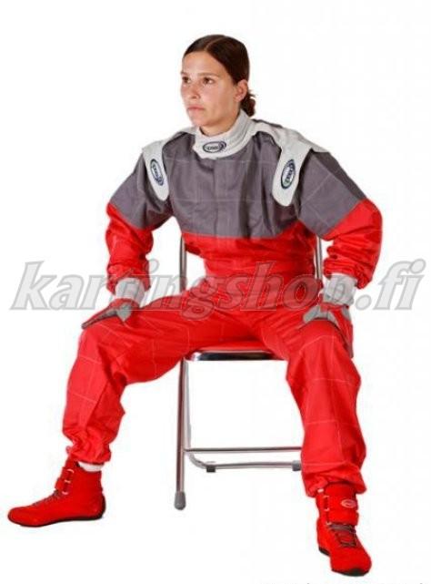 Speed karting ajohaalari punainen-harmaa