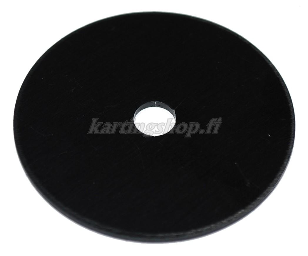 Penkin kiinnityksen tukiprikka Ø60mm x 2mm alumiini musta