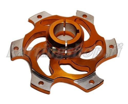 Rataskeskiö Ø30mm alumiini 6mm kiila