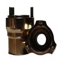 Etunapa magnesium Ø25mm pituus 76mm (keskiö Ø55mm), Huom hinta/kappale