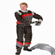 Speed karting ajohaalari musta-harmaa-punainen