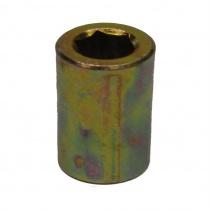 Pitkäholkimutteri M8, 8mm kuuskolo avaimelle, Ø15x30mm