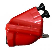 Imuäänenvaimennin ACTIVE Noise punainen Ø23mm putkilla , CIK/FIA 28/SA/24
