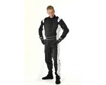 Speed karting ajohaalari musta-valkoinen